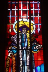 St Thomas More, Stivichall (Aidan McRae Thomson) Tags: church window modern catholic stainedglass coventry warwickshire stivichall patrickpollen styvechale