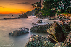Batu-batu 12 (reevaravy) Tags: sunset seascape coast rocks warm stones balikpapan