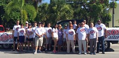 Rep Matt Hudson with campaign volunteers at Naples Fourth of July Parade
