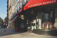 woman newyork coffee solitude alone pants manhattan broadway streetphotography hamburger upperwestside hood slider peeps solitary tightpants yourdon stretchpants yogapants fivenapkinburger