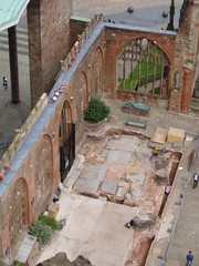 Excavations, Coventry Cathedral (Aidan McRae Thomson) Tags: ruins cathedral coventry warwickshire wardamage