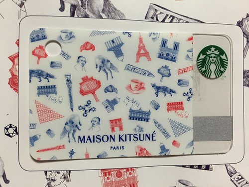 mini Starbucks Card MAISON KITSUNE