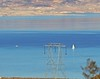 Lake Mead  (Explore #473, Dec. 30, 2016) . (Irene - HAPPY NEW YEAR) Tags: lakemead water waterscenes wonderfulnature beautifulnature nature nevada mountains salmonterrain sailboat allsailboats outdoor outdoors outdoorscenes hydrotower