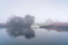Waveney River 30/12/2016 (Matthew Dartford) Tags: boat bokeh broads calm fog foggy herringfleet house mist misty norfolk reflection suffolk
