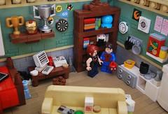 Peter Parker's Apartment (Ben Cossy) Tags: lego spiderman super marvel mary jane watson mj peter parker moc afol apartment house bath room bathroom bed couch tv toilet kitchen bricktendo vignette vig new mcu