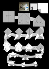 Sumo Wrestler diagram drawn by me (Zephyr Liu) Tags: origami diagram sumo wrestler