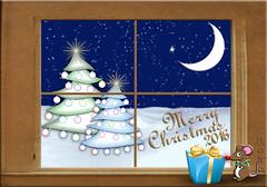 Christmas 2016 (Koko Nut, it's all about the frame) Tags: christmas xmas 2016 frame window sketch holiday tree trees ornaments mouse gift koko kokonut wonder explore