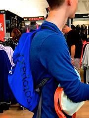 Shoppers (LarryJay99 ) Tags: blue male man dude hairy nape photostream dudes peekingpits guys guy hairylegs florida westpalmbeach iphone7plus flip men arms urban neckflipflop feet urbanbackpacker people iphone7plusbackdualcamera66mmf28
