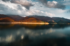 In the land of the Sabines - Castel Di Tora - Lago del Turano (luigig75) Tags: sabina lazio italia italy landscape lake lago sunset clouds trees mountain montagna lagodelturano castelditora 70d canonefs1022mmf3545usm