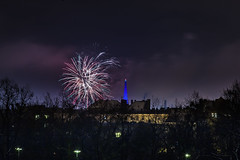 _MG_5244 WOSP 2017. (Sakuto) Tags: fireworks light night city poznan wosp landscape tower blue colors outdoor colorful poland sky