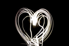 repeated heart (PDKImages) Tags: lights torch dark hearts love sparklers sparkle message fizz writing fizzy heart cat face bright daisy flower