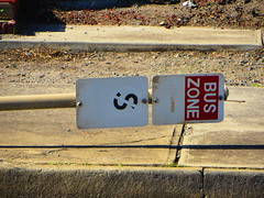 Knocked over signpost! (RS 1990) Tags: june adelaide signpost bent friday 12th southaustralia 2015 morphettvale knockedover mainsouthrd