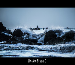 Morning in the ocean! (@K-Art StudioS) Tags: ocean morning men beach rock marina boat rocks waves shore fisher chennai tamilnadu karthik karthikc kartstudios karthikchandrasekar