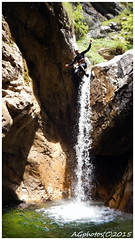 A quite high dive (AGTphotos) Tags: mountain waterfall dive montagna canyoning dolomiti tuffo friuli cascata torrente torrentismo barranquismo ciolesan