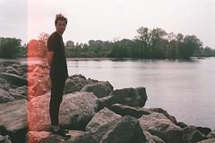 09420007 (Ka) Tags: portrait lake film 35mm nikon lightleak fujifilm analogue jordanharbour