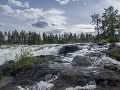 Storforsen (Fredrik8812) Tags: sky white water landscape whitewater sweden outdoor olympus rapids scandinavia omd em10 storforsen