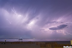 Active Thunderstorm above sea (FotoFanatic.nl) Tags: cloud netherlands clouds flash thunderstorm lightning fotofanatic fotofanaticnl