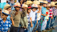 Festa Junina Quadrilha Kids Festive Cultural Dance in Rondonpolis Brazil - 2015 (schrockinator) Tags: boy brazil portrait people cute girl beautiful smile face childhood smiling sport kids female youth pose children beard fun happy person dance kid jump movement colorful pretty child dress exercise dancing little expression background joy young adorable happiness dancer human brazilian leisure cheerful festa active caipira festajunina quadrilha rondonpolis