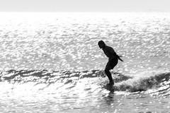Out There (haddartist) Tags: ocean longexposure morning light blackandwhite bw blur reflection sunshine silhouette backlight coast virginia surf break ripple surfer contest style wave sunny competition monotone surfing spray clean coastal oceanside foam soul surfboard longboard ripples virginiabeach swell silhouetted glassy stylish oceanfront competitor noseride longboarding firststreet beachbreak speedblur noseriding steelpierclassicsurfartexpo