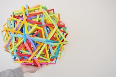 42 Interlocking Pentagons (Byriah Loper) (Byriah Loper) Tags: origami paperfolding paper byriahloper geometric compound complex polyhedron polygon pentagonal dodecahedron interlocking wireframe modularorigami modular