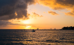 Key West Sunset (2) (Explored) (romanboed) Tags: ocenkeyresportandspa leica m 240 summilux 50 usa florida key west sunset pier christmas outdoor seascape landscape ships sea golden sky