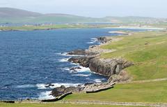 EE110616 - Sumburgh coast (Mytacism) Tags: shetland shetlands scotland sumburgh olympus omd em1 50200 swd landscape sea coast water grass island beach airfield