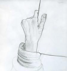 I'm drawing (schmurz_flint) Tags: pencil карандаш hand рука набросок