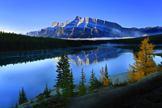 Mt. Rundle at Two Jack Lake