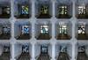 Small Windows in a Brutal Structure (thewhitewolf72) Tags: breitscheidplatz beton eiermann gedächtniskirche neubau buntglas berlin 19122016 mauer struktur