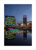 Voyage II (andyrousephotography) Tags: lightwaves 2016 art voyage 198 origami boats rows dock9 float installation lights neon rainbow colours salfordquays lowry theatre digitalworldcentre mediacityuk andyrouse canon eos 5d mkiii