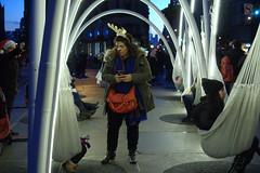 Fun Outdoor Installation at Madison Sq. Park (sjnnyny) Tags: sonya6000 madisonsquareart flatironbuilding streetphotomonobw fifthavenue23street people urbancity manhattanstreets tourists artoutdoors stevenj sjnnyny 2016 lightsculpture publicart flatiron23rdstreetpartnership