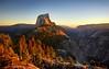 Half Dome at Sunset - Yosemite (Bruce Lemons) Tags: yosemite yosemitenationalpark yosemitevalley california sierra sierranevada mountains hike backpacking hiking wilderness halfdome sunset quarterdomes