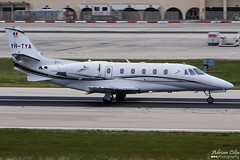 Private --- Cessna 560XL Citation Excel + --- YR-TYA (Drinu C) Tags: adrianciliaphotography sony dsc hx100v mla lmml plane aircraft aviation private cessna 560xl citation excel yrtya bizjet privatejet
