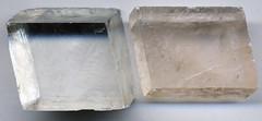 Calcite (James St. John) Tags: calcite calcium carbonate carbonates mineral minerals rhombohedral cleavage
