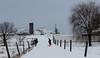 The Lane (J_Dubb94) Tags: snow sledding children farm meadow horizon outdoor winter fencerow
