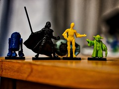 Star Wars in Mono-Colors (MarkRosauer) Tags: starwars r2d2 c3po darthvader yoda darkside lightside giveawaytoys macro theforceisstrong tiefighter
