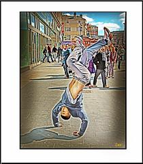 B-BOY CHURCH STREET (Derek Hyamson (5 Million views)) Tags: street bboys liverpool hdr