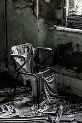 Waiting... (BribbroPhoto) Tags: canoneos6d tamronspaf70200mmf28diif urbex iluofhidellabbandono expsychiatrichospitalvolterra chair window sedia finestra abbandono abbandoned ruins rovine volterra light luce