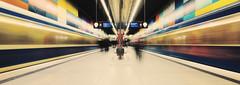 Munich U-Bahn (Susan Pau) Tags: munich münchen subway ubahn motionblur