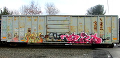 smells - nezo (timetomakethepasta) Tags: smells 907 nezo freight train graffiti art boxcar sglr rusted benching selkirk new york photography