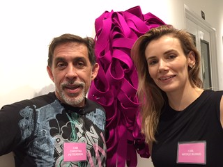 Artists Oliver Sanchez and Nicole Burko at the I Am Woman opening