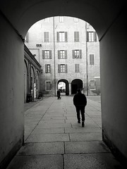 IMG_1481193882035 (Florindo Balkan) Tags: urban city contrast architecture blackandwhite wideangle noir mistery fog italy metaphysics