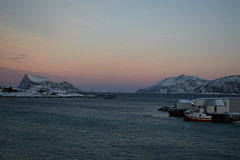 A Seaside Sunset on Sommarøy (Jason Shorten) Tags: sommarøy norwary arctic europe d5300 nikon nikkor 1855mm sunset snow ice cold seaside boat mountain island north