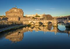 Sant'Angelo (aurlien.leroch) Tags: europe italie italia italy roma rome pontesantangelo castelsantangelo reflet relfection nikon d7100 cityscape