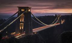 Travel (scott.hammond34) Tags: bridge cliftonsuspensionbridge clifton bristol sunset dusk hdr colour light vivid traffic lighttrails architecture winter canon 6d outdoor landmark