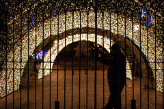 (Antonio_Trogu) Tags: christmas street italy man silhouette night lights gate strada italia gallery campania arcade streetphotography tunnel uomo luci natale notte salerno capodanno guardian controluce cancello newyearsday guardiano keeper lucidartista custodian 2015 custode antoniotrogu