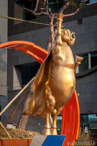 Pomnik w centrum Seulu