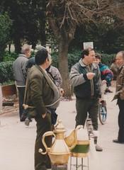 Easter Festivities in the National gardens Athens (redchillihead) Tags: warren smart greece turkey 1989 easter festivities national gardens athens 1980s oe kiwi traveller