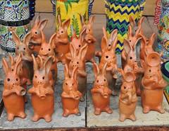 Musical Rabbit Mexican Pottery Arizona (Ilhuicamina) Tags: arizona ceramics mexican rabbits talavera tubac musicos conejos