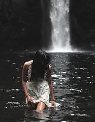 leaving (one fran k show) Tags: white fall nature water girl oregon dark outside leaving gloomy dress liquid abiqua